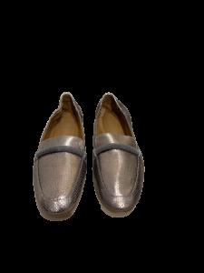 Mocassini Brunello Cucinelli, effetto metallizzato