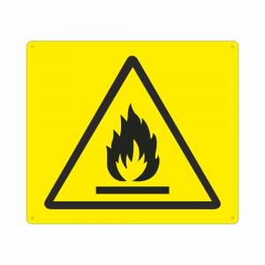 Cartello Simbolo W021 Pericolo materiali infiammabili