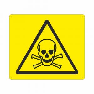 Cartello con simbolo W016 pericolo materiale tossico