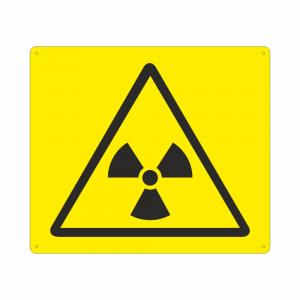Cartello Simbolo W003 Pericolo materiale radioattivo