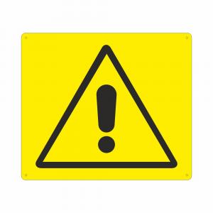 Cartello con simbolo pericolo generico