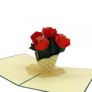 Origamo vaso di fiori biglietto augurali