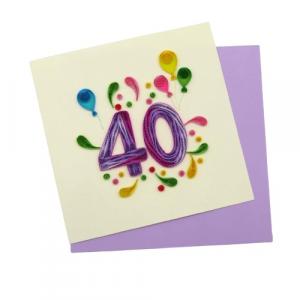 Origamo biglietto filigrana 40 anni