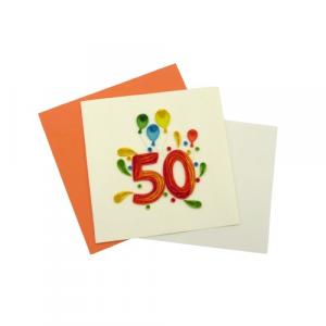 Origamo biglietti filigrana 50 anni di età