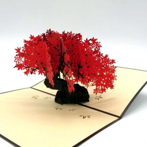 Origamo biglietto augurale bonsai in carta