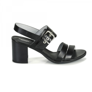 Sandalo pelle con maxi fibbia