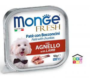 Monge fresh Paté e Bocconcini con Agnello 100g