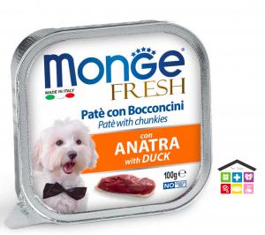 Monge fresh Paté e Bocconcini con Anatra 100g