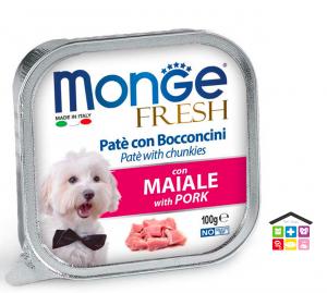 Monge fresh Paté e Bocconcini con Maiale 100g