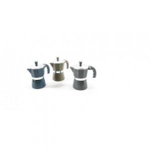 Caffettiera In Alluminio Stone 3 Tazze Colore Nero Caffè Di Qualità In Casa Cucina