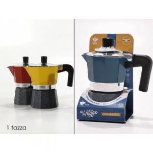 Caffettiera Vintage 1 Tazza Tre Colori Disponibili Giallo Blu Rosso Casa Cucina