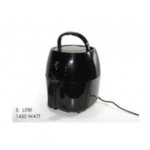 Friggitrice Ad Aria Calda Senza Olio 5 Litri Colore Nero 1450 Watt Elettrodomestici Casa Cucina