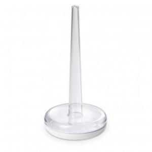 Linea Happy Drink Porta Rotolo Di Carta Da Cucina In Plastica Trasparente Colore Bianco Per La Tavola Funzionale