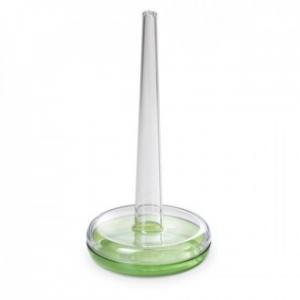 Linea Happy Drink Porta Rotolo Di Carta Da Cucina In Plastica Trasparente Colore Verde Per La Tavola Funzionale