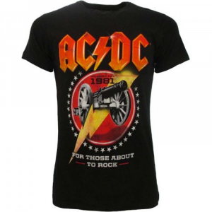 T-shirt AC/DC For Those About To Rock taglia XS S M L XL XXL