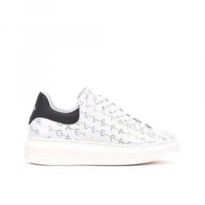 Gaelle Paris Sneakers con Scritte Bianca Multicolor da Donna