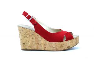 Sandalo zeppa in sughero