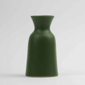 Vaso caraffa 1L in ceramica opaca verde made in Faenza