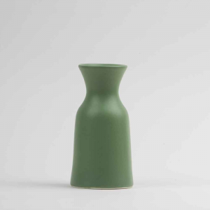 Vaso caraffa 0,5Lin ceramica opaca verde made in Faenza