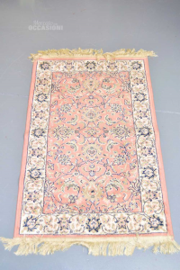 Carpet Pink And White 103x66 Cm