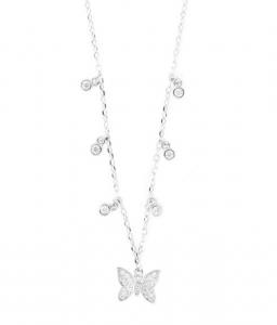 By Simon - Collana in Argento 925 con pendente a forma di farfalla