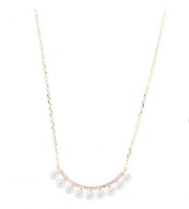 By Simon - Collana in Argento 925 con perle di acqua dolce e zirconi