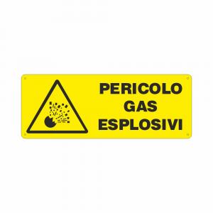 Cartello Pericolo gas esplosivi
