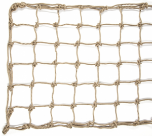Rete da arrampicata in poliestere, effetto corda naturale