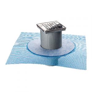 CHIUSINO SIFONATO IN ABS 100x100 C/RETE mm 100 X 100