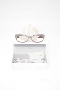 Eyeglasses Mount Dior Cd3211 Gray Brown With Case The