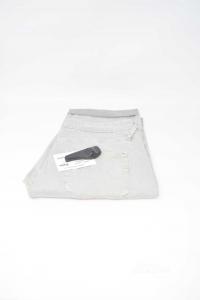 Bermuda Donna Grigio Effetto Jeans Tg 30 Marca Gas