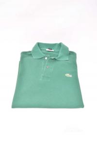 Polo Uomo Verde Lacoste Originale Tg 3 (L)
