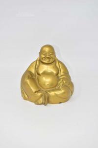 Oggetto Buddaha In Ottone Altezza 14 Cm