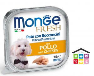 Monge fresh Paté e Bocconcini con Pollo 0,100g