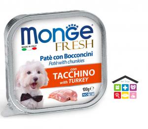 Monge fresh Paté e Bocconcini con Tacchino 0,100g