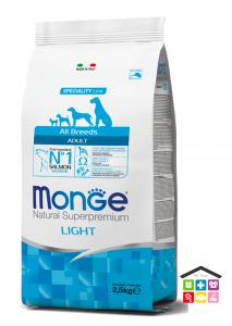 Monge  All Breeds Adult Light Salmone con Riso 2,5kg/12kg