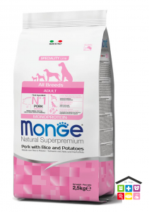 Monge All Breeds Adult Maiale con Riso e Patate 2,5kg/ 12kg