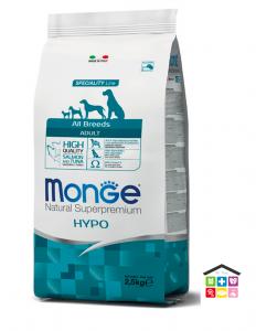 Monge All Breeds Adult Hypo con Salmone e Tonno 2,5kg/12 kg