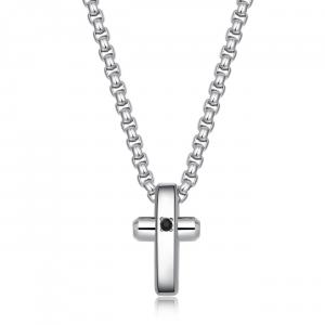 Collana uomo Brosway Crux in acciaio lucido con pendente croce BRX10