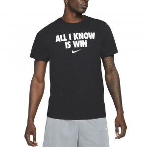 Nike T-Shirt All I Know Nera da Uomo