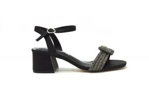 Sandalo con nodo di strass