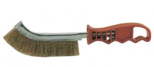 Spazzola acciaio fili ottone con manico