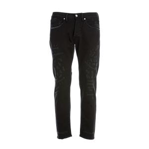 Jeans 5 Tasche Nine in the Morning Nero con Rotture modello Rock