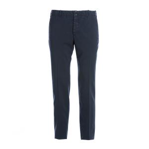Pantalone Lana Lavata Natural Confort Incotex Verve Avio