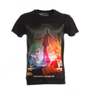 T-Shirt Bastille Nera Stampa Joker