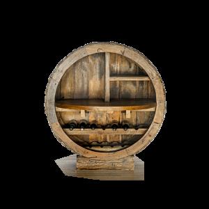 Mobile cantinetta in legno di teak thai con esterno tronco