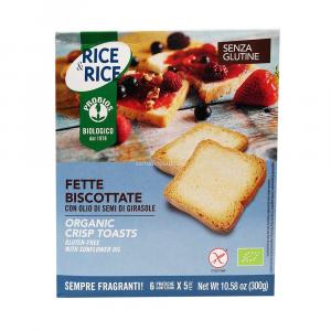 Fette Biscottate Senza Glutine 6 x 5 Fette Rice e Rice