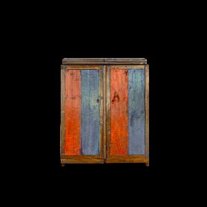Mobile bar in legno di teak recuperato dalle vecchie barche