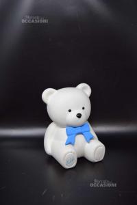 Salvadanaio In Ceramica A Forma Di Orso Altezza 17 Cm