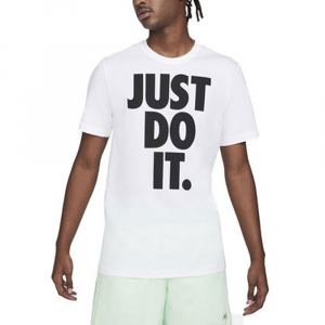 Nike T-Shirt Just Do It Bianco da Uomo